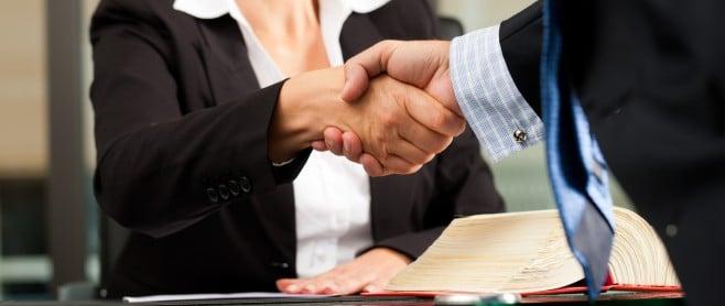 personal injury lawyer handshake