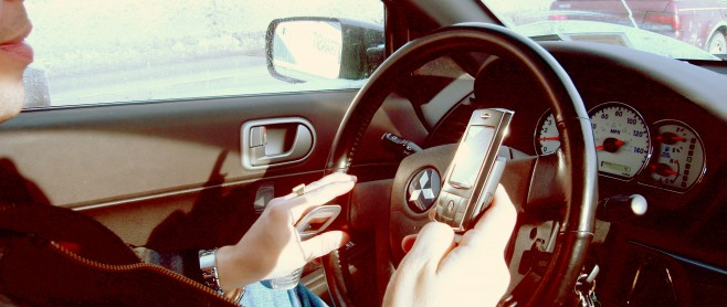 car accident lawyer texting and driving