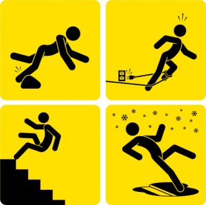 slips trips and falls safety illustrations